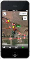 iPhone CourseWalk CDE App